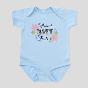 Navy Sister [fl camo] Infant Bodysuit